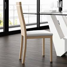 chaise en bois chaise bois dossier plein design glass sur cdc design