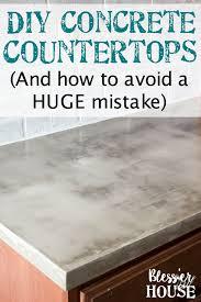How To Make A Concrete Bench Top Diy Feather Finish Concrete Countertops Bless U0027er House