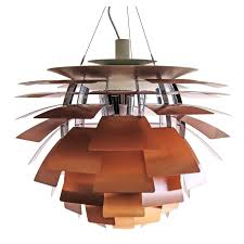 early original ph artichoke copper lamp by poul henningsen for