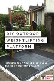 diy outdoor weightlifting platform and rack garage gym reviews