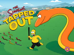 simpsons halloween of horror cthulhu in the background the splash screens and logos of tapped out update destination