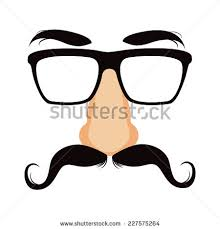 nose mask disguise mask glasses big stock vector 227575264