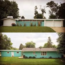 Mid Century Modern Ranch Alesha Restores The Original 1961 Exterior Paint Colors On Her