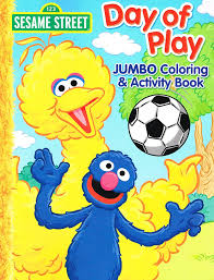 amazon sesame street elmo jumbo coloring book play