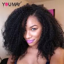 human hair using twists u part wig human hair indian curly hair afro kinky curly human