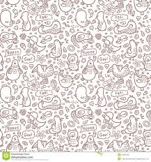 doodle vectors free outline doodle birds pattern stock vector image 34580428