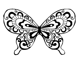imagenes de mariposas faciles para dibujar dibujo de mariposa bonita para colorear dibujos net