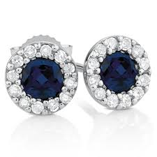 diamond earrings nz earrings with sapphires diamonds in 10ct white gold
