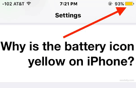 What Does A Flashing Yellow Light Mean Why Iphone Battery Is Yellow What The Yellow Icon Means U0026 How To