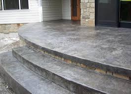Decorative Concrete Patio Contractor Stamped Concrete Patio With Custom Stairs Custom Concrete