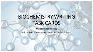 biomolecule biochemistry writing task cards by mizzzfoster