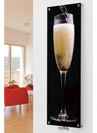 contemporary glass radiators for central heating system art