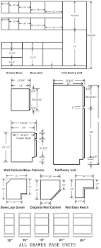 Standard Cabinet Dimensions Available From Most Cabinet Suppliers - Standard kitchen cabinet