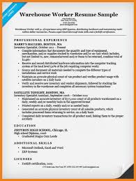 Warehouse Job Resume Skills by Warehouse Worker Resume Teller Resume Sample