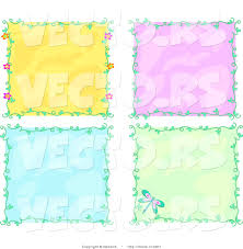 vector of 4 unique colorful vine borders with backgrounds