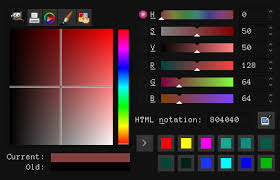 c how do i create a color picker with variable hue and