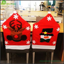 christmas chair back covers fancy snowman reindeer santa claus design felt christmas chair