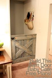 Baby Gate For Top Of Stairs With Banister And Wall Free Plans Diy Barn Door Baby Gate For Stairs