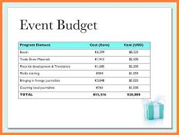Event Budget Template Excel Event Template Colorful Event Sle Format