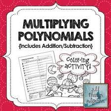 multiplying polynomials foil coloring activity algebra