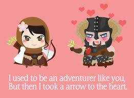 gamer valentines cards skyrim card created by jade smith gaming