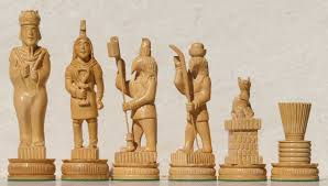 Wooden Chess Set by Chess Sets From The Chess Piece Chess Set Store The Egyptian