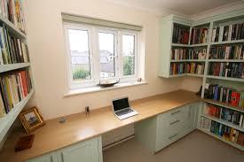 Bespoke Home Office Furniture Bespoke Painted Home Office With Oak Desk Enlargement 3