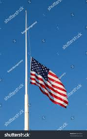 Us Flags At Half Mast American Flag Half Mast Flag Down Stock Photo 56517394 Shutterstock