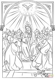 pentecost icon coloring page free printable coloring pages