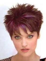 2 amazing elements in short spiky hairstyles for women purple
