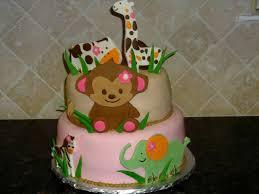 baby shower cakes for girls safari barberryfieldcom
