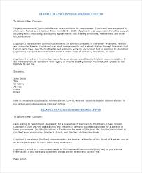 professional reference letter 12 free sample example format