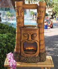 Lighted Water Fountains Outdoor by Tiki Bar Decor Waterfall Polynesian Tiki Statue Lighted Faux Fire