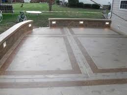 Backyard Cement Ideas Enchanting Backyard Patio Ideas Concrete Backyard Concrete Designs