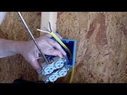 installing an electrical outlet in new construction youtube