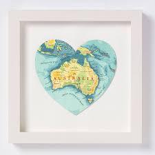 Austrailia Map Australia Map Heart Print By Bombus Off The Peg