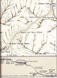 The Hobbit Map Chapter 4 Overhill And Underhill Of Thorin Oakenshield And The