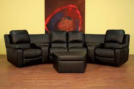 Home Theater Chair 7 Piece Home Theater Seating Sectionals In Black Brown