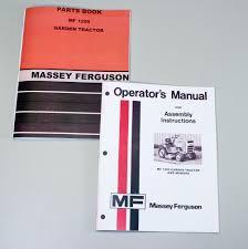 massey ferguson mf 1200 lawn garden tractor mower owners operators