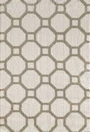 Geometric Area Rug by Silky Shag 5903 110 White Area Rug By Dynamic Rugs