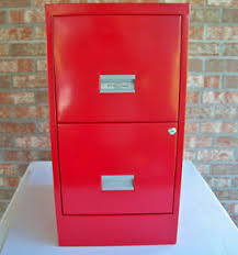 two drawer metal filing cabinet w p johnson two drawer locking file cabinet vintage red metal ebay