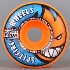 formula 4 spitfire spitfire wheels orange blast radials 101d formula four skateboard