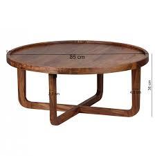 Wohnzimmertisch Oval Finebuy Couchtisch Massiv Holz Sheesham Rund 85 Cm Wohnzimmer