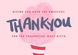 thank you baby shower cards baby shower thank you card templates canva