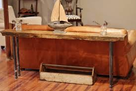 How To Decorate Sofa Table Rustic Wood U0026 Iron Table Diy Picklee