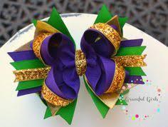 mardi gras bow three layer glitter mardi gras bow mardi gras hair bows