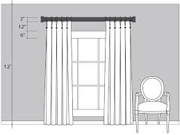 Installing Curtain Rod Proper Height To Hang Curtain Rods Gopelling Net