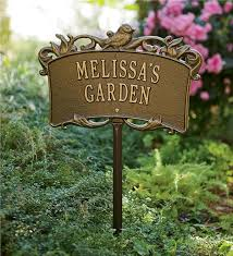 personalized garden stones personalized garden sign garden plaques plow hearth