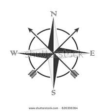 vector compass south east stock vector 605140883