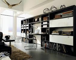 bibliothèque avec bureau intégré bureaux home office forme et style